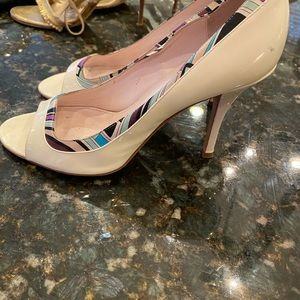 Pucci Patent Leather Peep Toe Heels